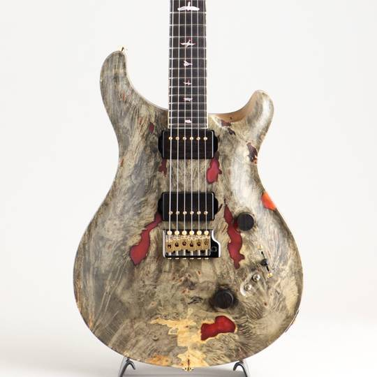 Private Stock #8460 Custom 24/08 Buck-eye Burl Maple Top Natural with Red Pearl Resin