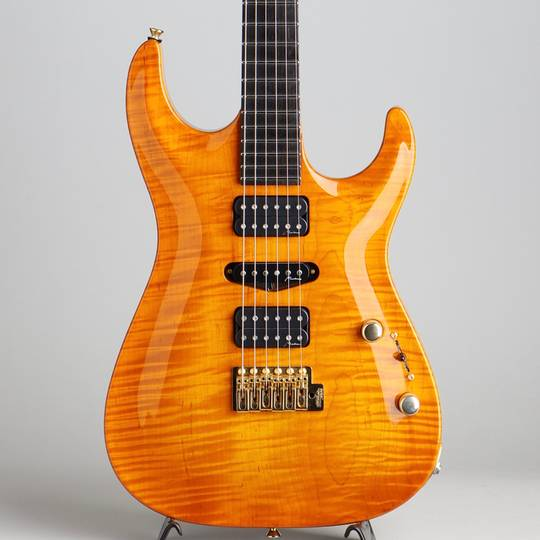 Carve Top 1pc Figured Maple Body Amber 2015