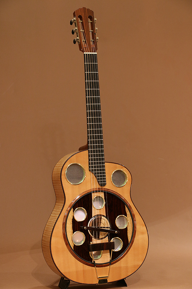Resonator Guitar Flamed Maple