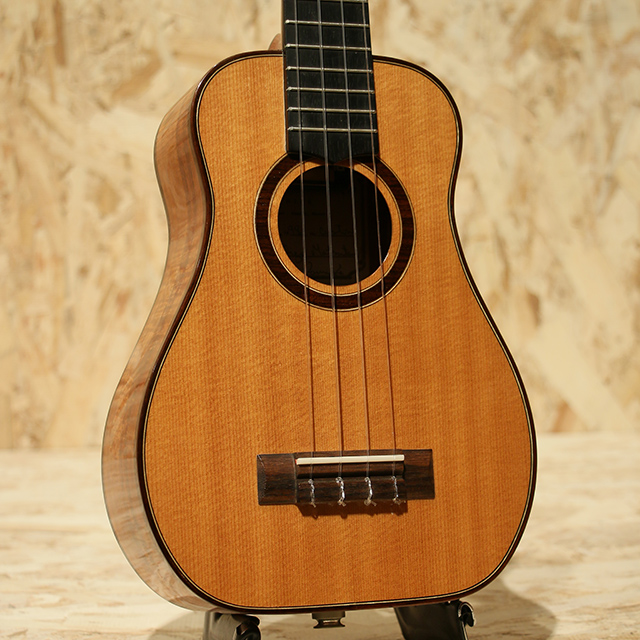Custom Bell Shape Concert LongNeck Spruce/Figured Hawaiian Koa