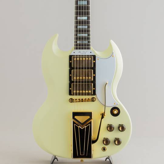 60th Anniversary 1961 Les Paul SG Custom Sideways Vibrola Polaris White VOS #101271