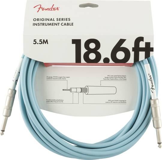 Original Series Instrument Cable, 18.6', Daphne Blue