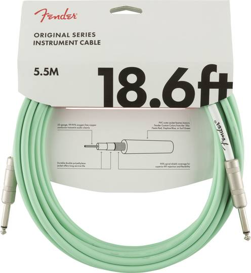 Original Series Instrument Cable, 18.6', Surf Green