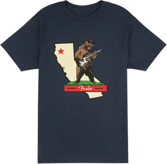 Fender Rocks Cali T-Shirt, Navy, S