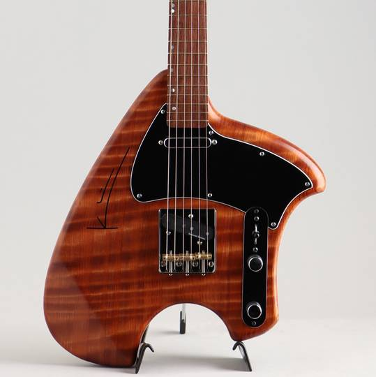 S Tele Flamed Red Wood Body