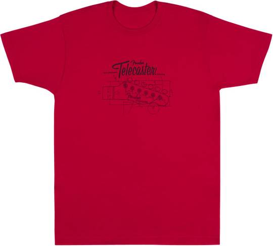 Tele Blueprint T-Shirt, 2XL
