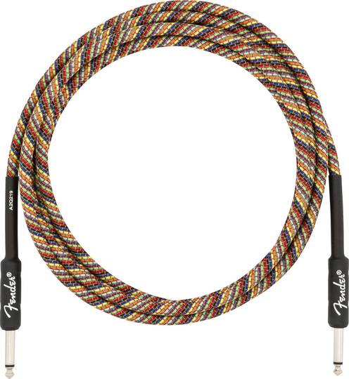 10' Festival Instrument Cable, Pure Hemp, Rainbow