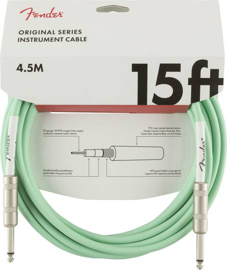 Original Series Instrument Cable, 15', Surf Green