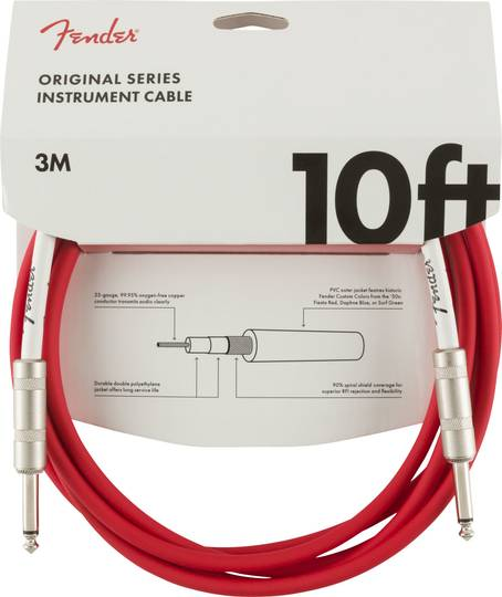 Original Series Instrument Cable, 10', Fiesta Red