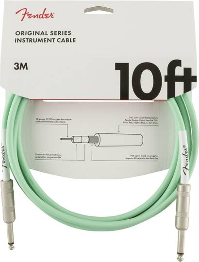 Original Series Instrument Cable, 10', Surf Green