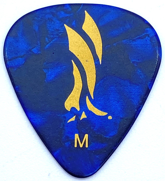 Blue Pearloid Celluloid Pick ギターピック×10枚セット