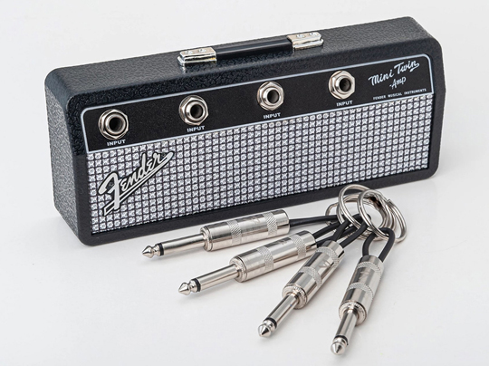 Fender Mini Twin Amp Jack Rack with 4 keychains