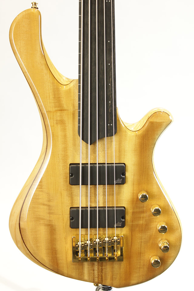 【現地選定木材採用】Be Elite 5st Fretless -Myrtle top-