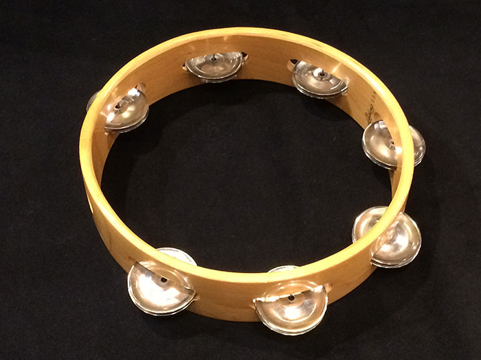 【VINTAGE】No.94-1 HeadLess Rock Tambourine 8""