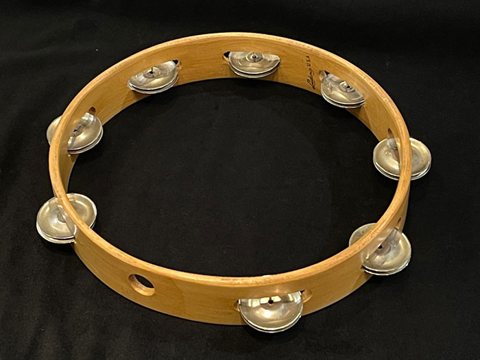 【VINTAGE】No.95-1 HeadLess Rock Tambourine 10""
