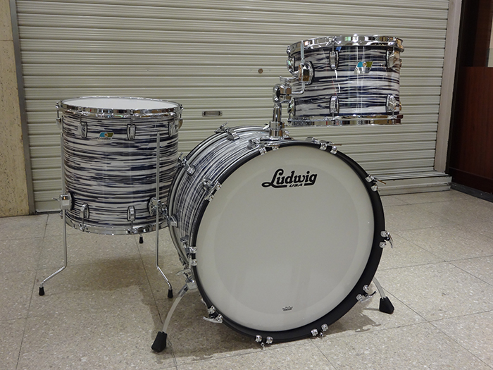 "【LUDWIG工場ツアー特注セット】CLASSIC MAPLE INDIGO OYSTER 3点SET、22"",13"",16"""