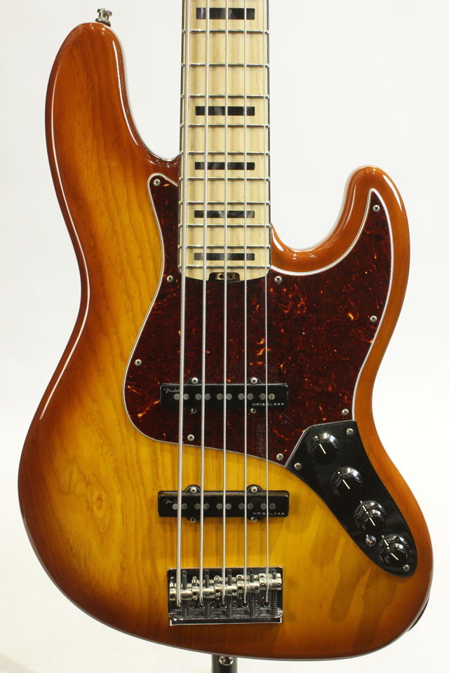 American Elite Jazz Bass V Ash Tabacco Burst / Maple