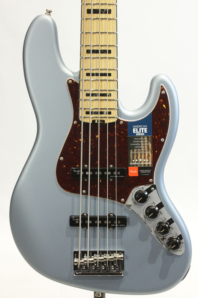 American Elite Jazz Bass V (Satin IBM)