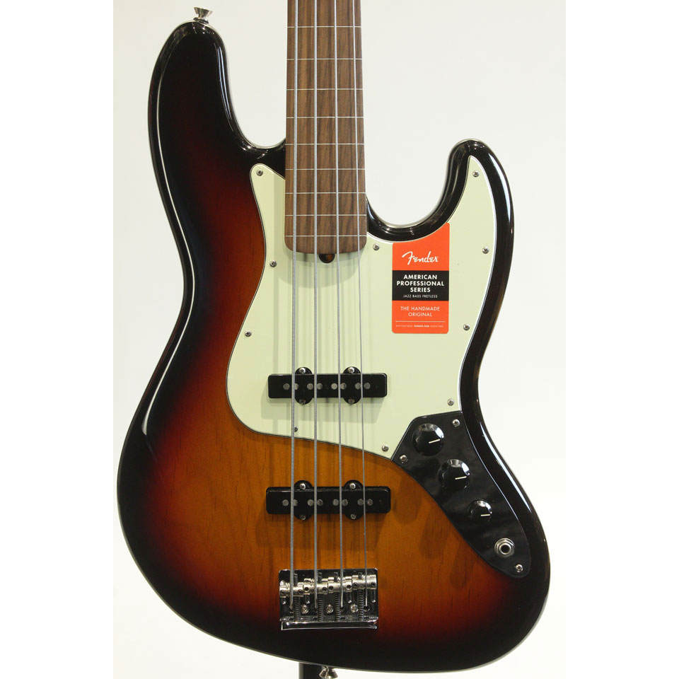 American Professional Jazz Bass Fretless (3TS)