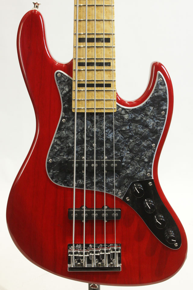 Custom Bass 5st Transparent Red 5-21 Vintage