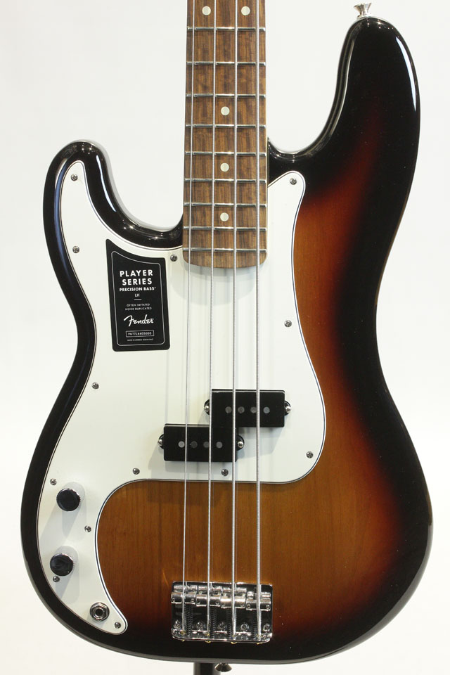 Player Precision Bass Left Hand / PF (3-Color Sunburst)