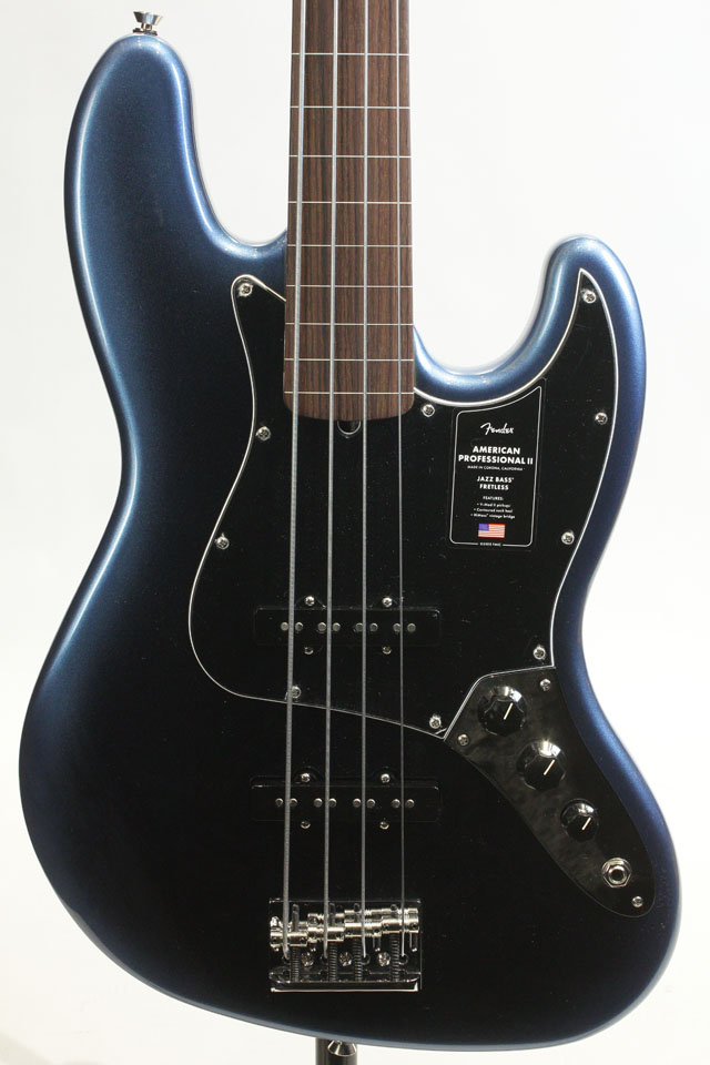 American Professional II Jazz Bass Fretless Dark Night / Rosewood
