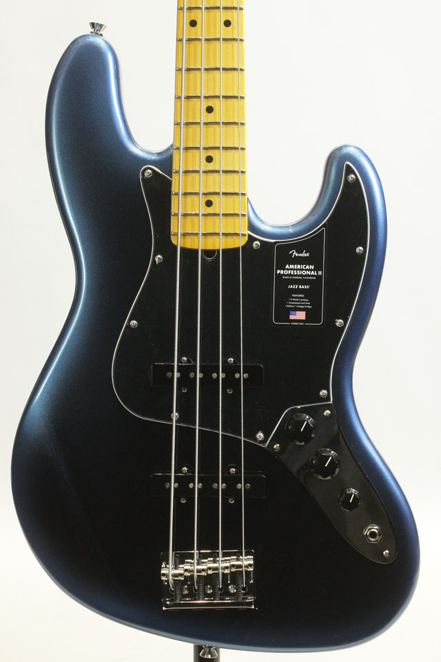 American Professional II Jazz Bass Bass Dark Night / Maple