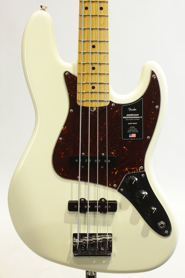 American Professional II Jazz Bass Olympic White / Maple