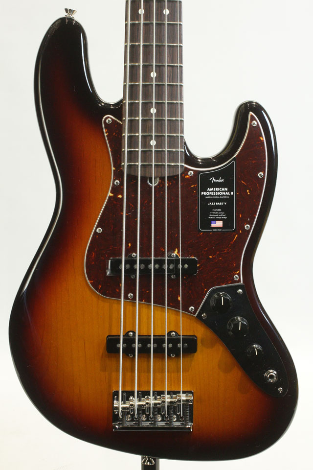 FENDER/USA  American Professional II Jazz Bass V 3-Color Sunburst / Rosewood フェンダー/ユーエスエー