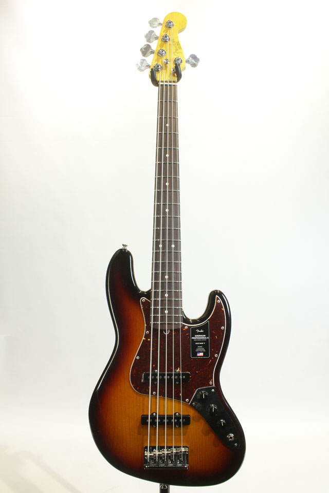 FENDER/USA  American Professional II Jazz Bass V 3-Color Sunburst / Rosewood フェンダー/ユーエスエー サブ画像2