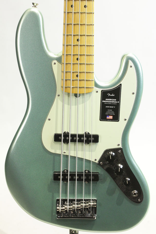 American Professional II Jazz Bass V Mystic Surf Green / Maple