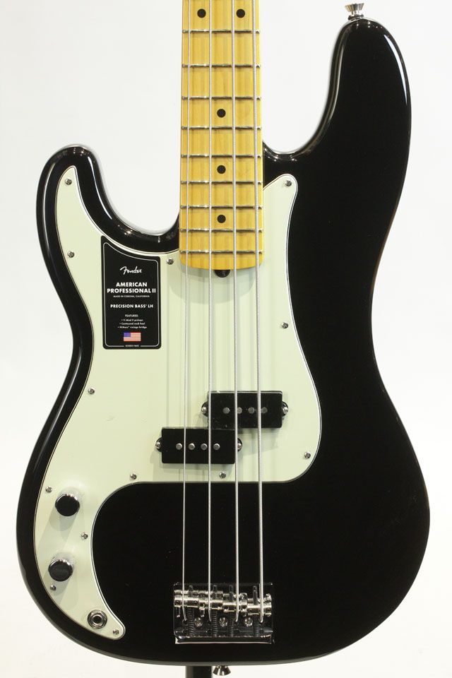 American Professional II Precision Bass LEFT-HAND Black / Maple