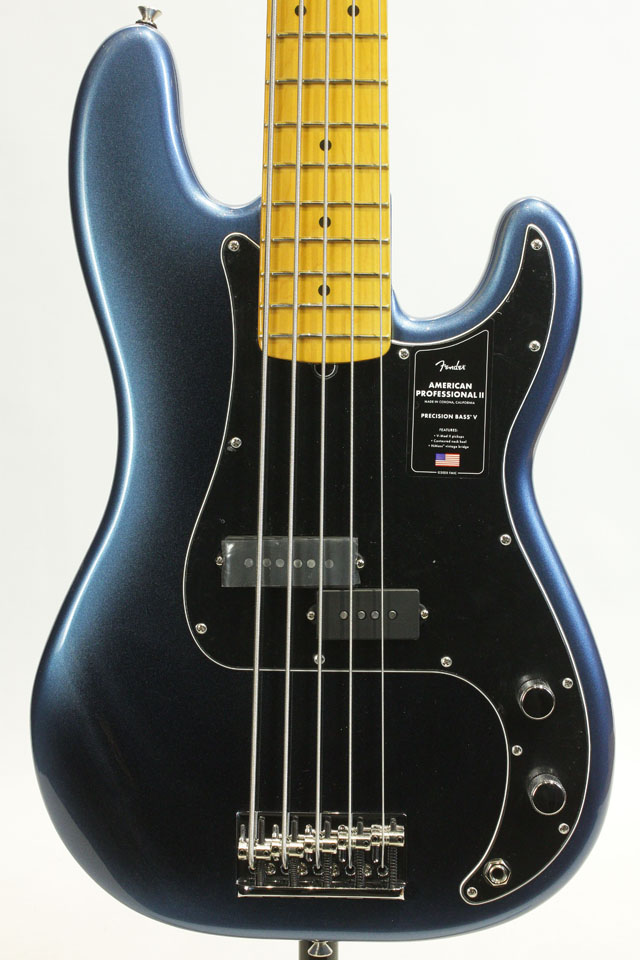 American Professional II Presicion Bass V Dark Night / Maple