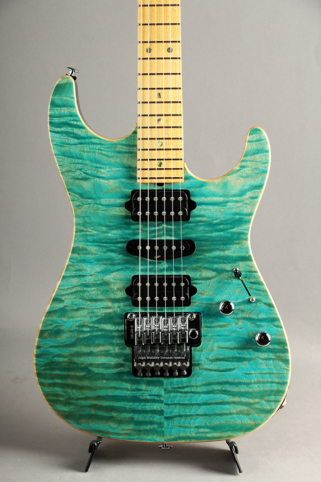 Standard Quilt Maple Match Figured Headstock/ Bahama Blue