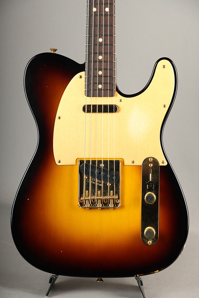1963 Telecaster Journeyman Relic Wide Fade 2 Tone Burst Gold Hardware