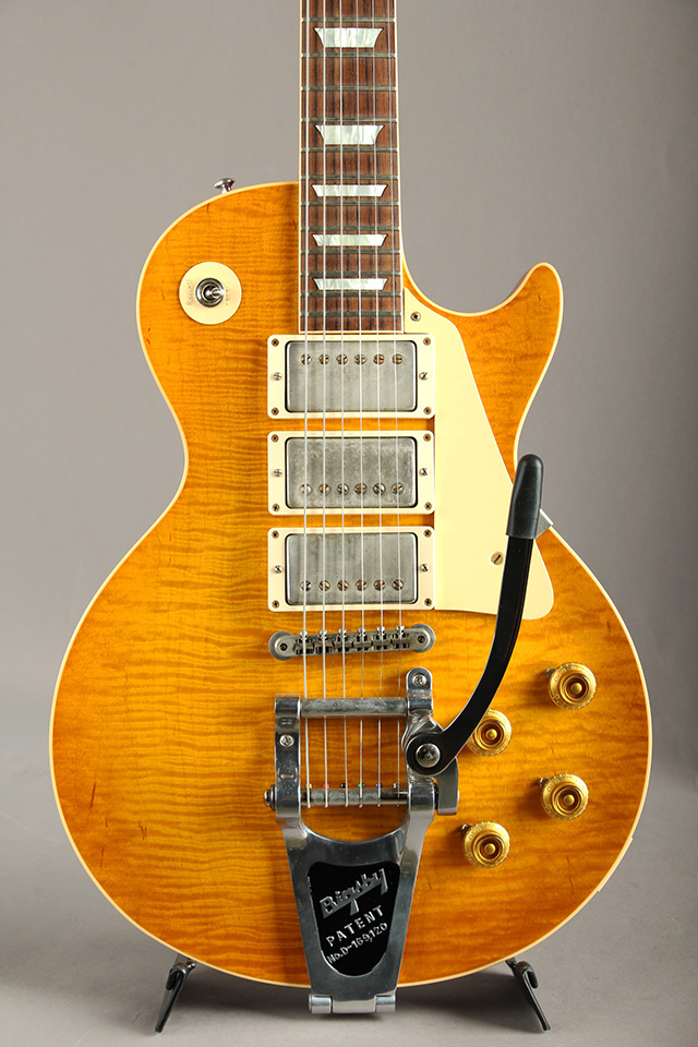Historic Collection 1959 Les Paul 3PU & Bigsby Lightly Aged Corduroy Burst S/N:983752