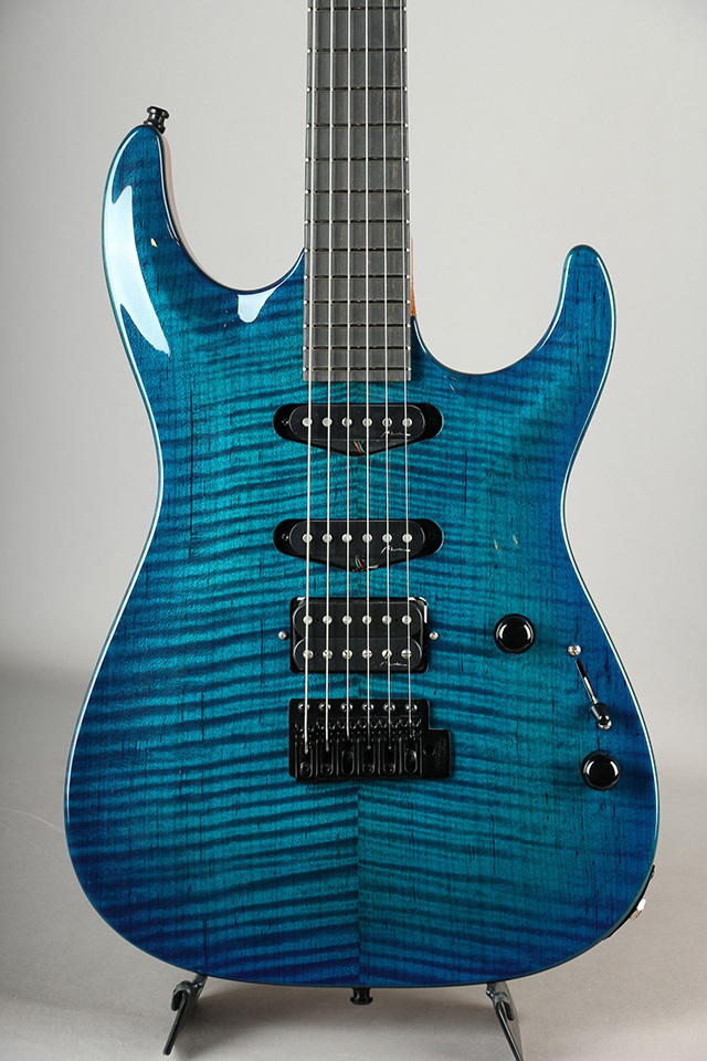 Carve Top Torrefied Figured Maple S-S-H / Trans Deep Blue