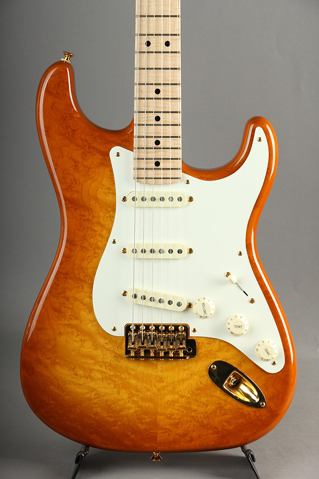 Masterbuilt 1950's Stratocaster Birds Eye Top NOS Honey Brown Burst By Todd Krause
