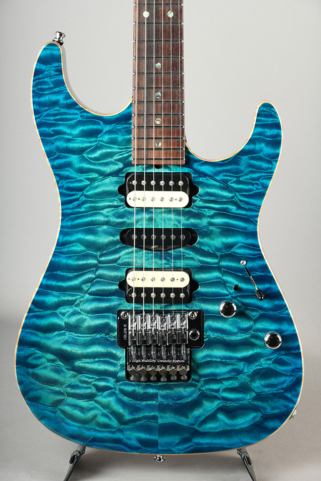 Standard Quilt Maple Match Figured Headstock/ Aqua Blue Burst