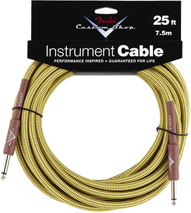Performance Series Cable (Straight-Straight Angle) 25ft/7.5m Tweed