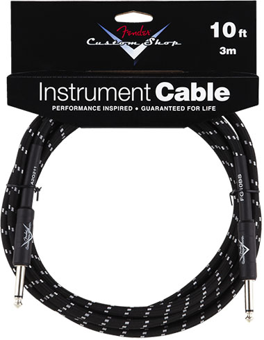 Performance Series Cable (Straight-Straight Angle) 10ft/3m Black