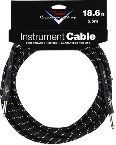 Performance Series Cable (Straight-Straight Angle) 18.6ft/5.5m Black