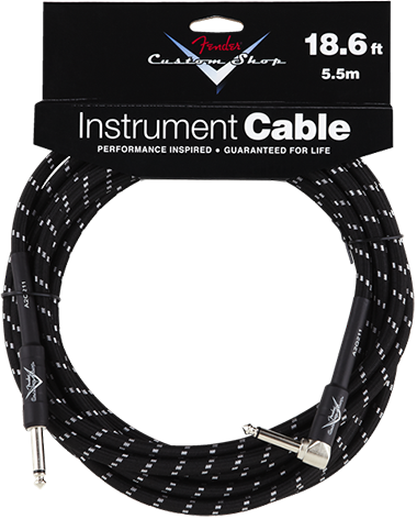 Performance Series Cable (Straight-Right Angle) 18.6ft/5.5m Black