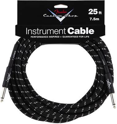 Performance Series Cable (Straight-Straight Angle) 25ft/7.5m Black