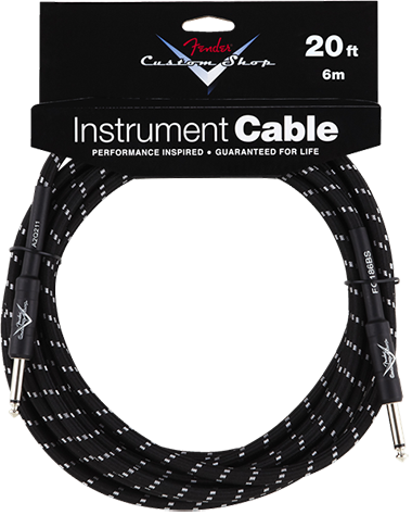 Performance Series Cable (Straight-Straight Angle) 20ft/6m Black