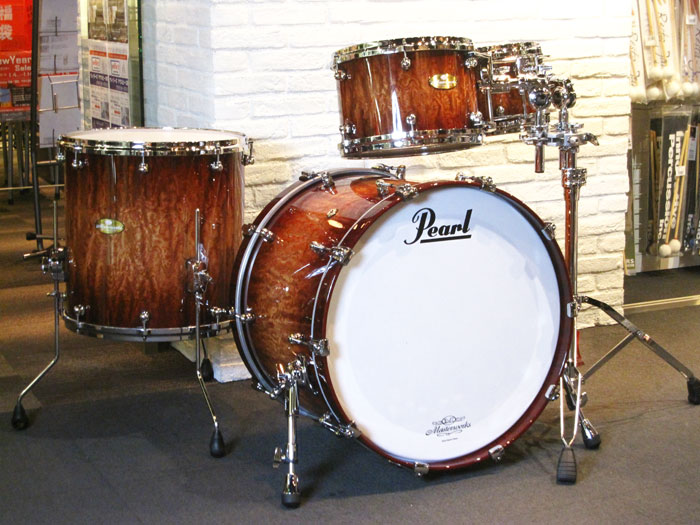 "【決算特価品】Masterworks MODERN DRY 4点Set 22"" 10"" 12"" 16"" Natural to Walnut Burst Bubinga"