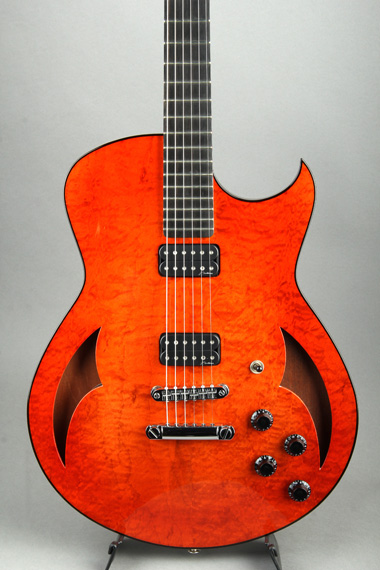 Semi-Hollow Arch Top Premium Maple Top/TOM Bridge & Stop Tail piece Light Amber