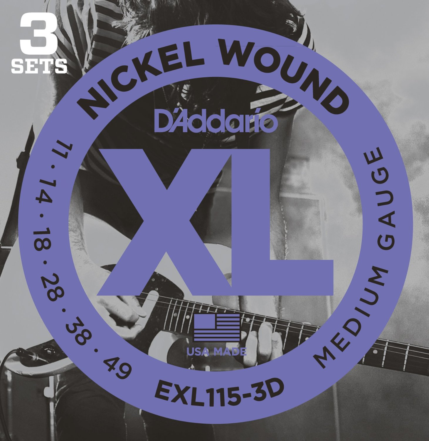 EXL115-3D [Nickel Wound 11-49] 3セット