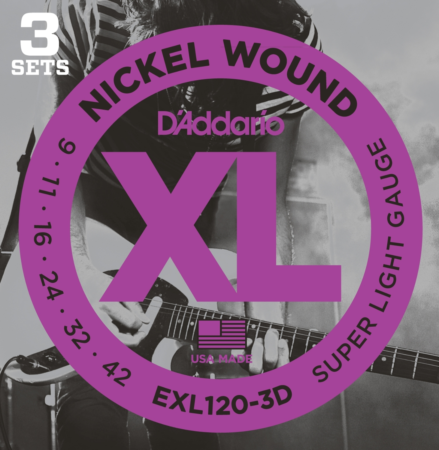 EXL120-3D [Nickel Wound 09-42] 3セット