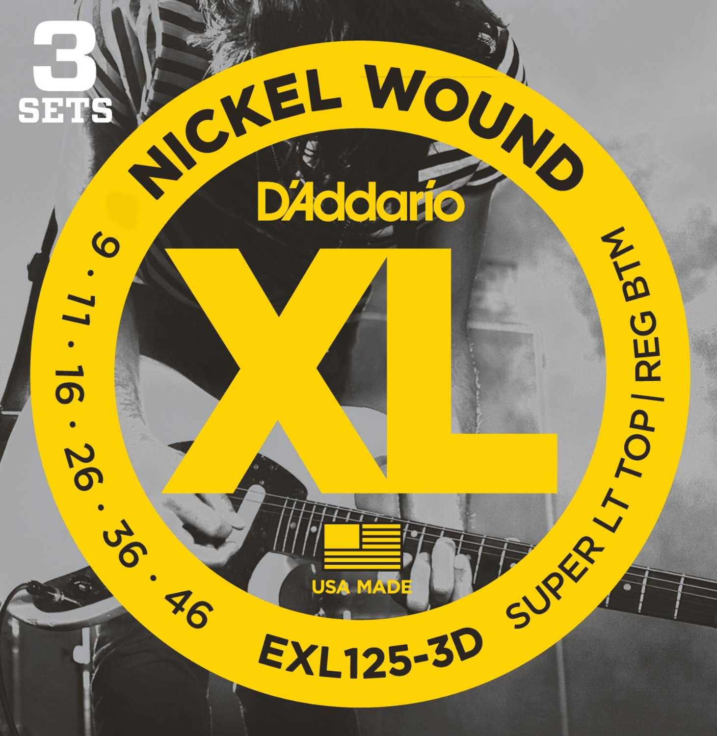EXL125-3D [Nickel Wound 09-46] 3セット